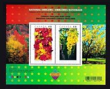 Canada 2003 Yv. Bloc 65 ** Bangkok 2003 - Emblemes Nationaux National Emblems - Arbres Trees Alberi Arboles Joint Issue