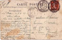 SAVOIE - LA BALME - CACHET T84 - SEMEUSE DU 6-8-1909 - CARTE DE ST JEAN DE COUZ. - Postmark Collection (Covers)