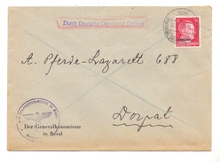 EESTI / ESTLAND - 1942, OSTLAND, Dienstpost, Generalkommisar Reval / Tallinn, An Pferde - Lazarett Dorpat - Estonie