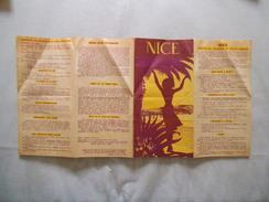 NICE CAPITALE DU TOURISME EN TOUTES SAISONS 1958 EDITE PAR LA VILLE DE NICE ET SON SYNDICAT D'INITIATIVE - Dépliants Touristiques