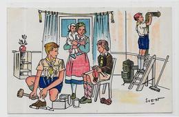 CPSM Scoutisme Scout éclaireur Non Circulé Par SVEN éditeur Noyer Voir Scan Du Dos + Cachet - Padvinderij