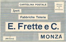 8137 MONZA FRETTE FABBRICHE TELERIE - 1900-44 Vittorio Emanuele III