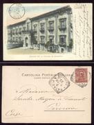 CATANIA VIAGGIATA NEL 1900  FACCIATA EX CONVENTO DEI BENEDETTINI - Catania