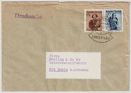 1952, Selt. Tarif 25gr. - Portoger.  Sondertarif! R!   , #8028 - 1945-60 Briefe U. Dokumente