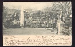 CATANIA VIAGGIATA NEL 1902 VILLA BELLINI - BELLA ANIMAZIONE - Catania