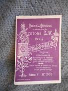 BRODERIE, OUVRAGE DE DAMES, PETIT ALBUM ALPHABET COTONS LV, SERIE F N° 208 - Collections