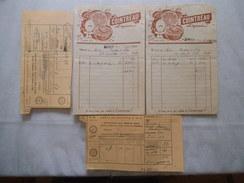 NEUFMAISONS ETABLISSEMENTS DEVENEY COINTREAU LIQUEURS FACTURES ET CONGES DES 27 JUILLET ET 10 AOUT 1957 - Factures