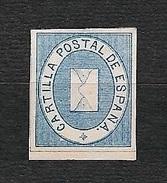 "SPAGNA 1869 -  Franchigia Concessa A Don Diego Castell Per L'affrancatura Del Libro ""Cartilla Postal De España"" - MH - Franchigia Postale"