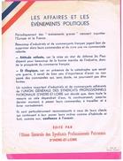 AFFICHE (A4) D37 INDRE ET LOIRE. 1939 LES AFFAIRES ET LES EVENEMENTS POLITIQUES. GUERRE.TEXTE DE Marcel CHAPOTIN. - Affiches