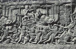 Le Bayon. Lutte Entre Chams & Khmers. Simreap - Angkor, Cambodia    S-3366 - Cambodia