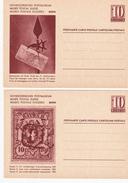 Série De 4 Entiers Postaux SUISSE - 1946 - BERN - Avec Enveloppe D'origine - Interi Postali