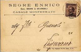 8185 CASALE MONFERRATO SEGRE - 1900-44 Vittorio Emanuele III