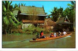 THAÏLANDE. Carte Postale écrite. Klong In Bangkok. - Tailandia