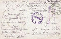 REKRUTEN DEPOT LOTHR. - Postüberwachungsstelle Diedenhoffen - Düsseldorf 28 Mars 1917 Pour Rosslingen - CP Köln - Postmark Collection (Covers)