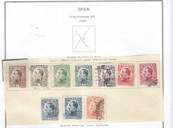 Spagna 1930 Re Alfonso XXIII° Left N.10 Valore  Scott 406/414 See Scans - Usati