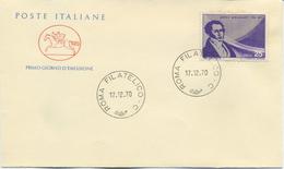 ITALIA - FDC CAVALLINO 1970 -  SAVERIO MERCADANTE - MUSICA - 6. 1946-.. Republic