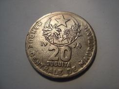 MONNAIE MAURITANIE 20 OUGUIYA 1974 / 1394 - Mauritanie