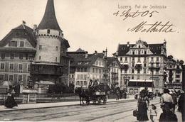 LUZERN  -  LUCERNE  -  AUF DER SEEBRÜCKE  -   Septembre 1905  - - LU Lucerne