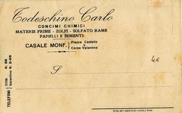 8244 CASALE MONFERRATO TODESCHINI - 1900-44 Vittorio Emanuele III