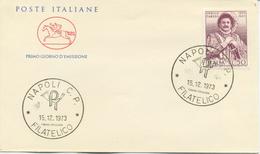 ITALIA - FDC CAVALLINO 1973 - ENRICO CARUSO - MUSICA - 6. 1946-.. Republik