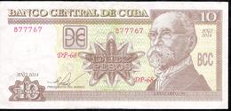 CUBA P117p 10 PESOS 2014   VF - Emirats Arabes Unis