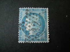 1871 -  Ceres N. 60 I Type, 25 C. Bleu  Obl., TB - 1871-1875 Ceres