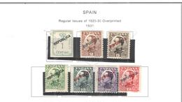 Spagna 1931 Em.Prec.Ovpr.Rep.  N.7 Valore  Scott 449/455 See Scans - 1931-Oggi: 2. Rep. - ... Juan Carlos I