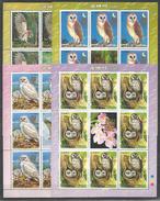 8x DPR KOREA - MNH - Animals - Birds - Owls