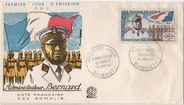 LA 147 - COTE DES SOMALIS FDC Administrateur Bernard 1960 - Lettres & Documents