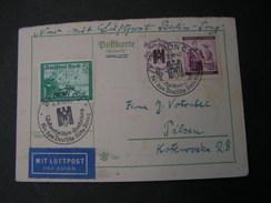 Böhmen Cv.1940  SST Berlin Als Luftpost Berlin Prag Nach Pilsen - Böhmen Und Mähren