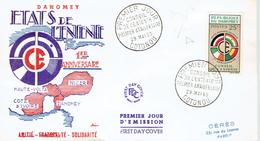 FDC Du Timbre République Du Dahomey Conseil De L'entente 1er Anniv Cotonou, 29/5/60 - Bénin – Dahomey (1960-...)
