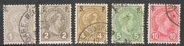 Luxemburg Yvert/Prifix Serv. Oblit. 77/81 TB Sans Défaut Cote EUR 60 (numéro Du Lot 153OL)