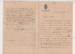 ^ TORINO SCUOLA DI GUERRA LETTERA MANOSCRITTO MARAFFA MESTRE VENEZIA DOCUMENTO 12 - Historical Documents