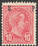 Luxemburg Prifix Serv. 81 TB Sans Charn. Rare Signé FSPL Petit Pli Au Coin, Sans Autre Defaut .Cote EUR235 (lot 154OL)