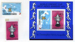 1976 - ST. CHRISTOPHER, NEVIS & ANGUILLA  - Mi. Nr. 315/316 + Block 6 - NH - (CW2427.41) - St.Kitts E Nevis ( 1983-...)