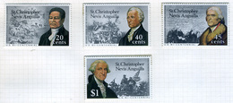 1976 - ST. CHRISTOPHER, NEVIS & ANGUILLA  - Mi. Nr. 317/320 - NH - (CW2427.41) - St.Kitts E Nevis ( 1983-...)