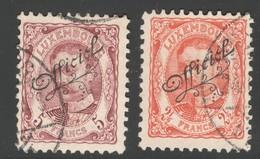 Luxemburg Yvert/Prifix Serv. 112/113 Oblit. TB Sans Défaut  Cote EUR 170 (numéro Du Lot 157OL)