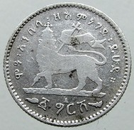 "1 Gersh -፩ ግርሸ - ""1/20"" -1903 - Raised Left Leg - KM 12 - Etiopia"