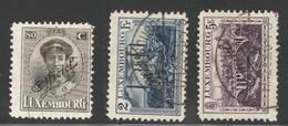 Luxemburg Yvert/Prifix Serv. 140, 142/43 Oblit. TB Sans Défaut  Cote EUR 83,50 (numéro Du Lot 159OL)