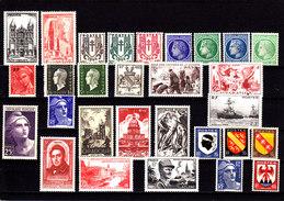 FRANCE - 1945/48 - */** - Yv 663, 667, Ex 670/81, 690, 694, 720,  731, 735, 737, 739, 742, 751, 752, 790, 755/8, 782... - France