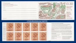 GREAT BRITAIN 1988 BOOKLET CARNET £1.30 RECIPES  RECETTES COVER S.G. FL 13B GOOD PERFS. - Carnets