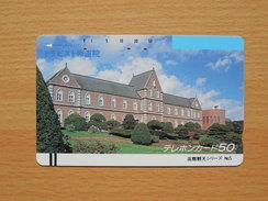 Japon Japan Free Front Bar, Balken Phonecard - 110-2917 / Trappist Monastery Of Hokkaido / Different Rearside - Japan