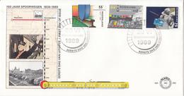 E266 - 150 Jaar Spoorwegen  (1989) - NVPH 1430 - 1432 - FDC