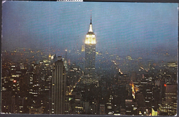 United States New York 1973 / Panorama / Night View / Observation Roof / RCA Building - New York City