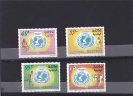Stamps ERITREA 1996 SC 274-277 50TH ANNIVERSARY UNICEF IPZS ITALY MNH SET ER#8 - Eritrea