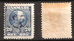 Denmark 1907 Frederik VIII 20 øre Steel Blue? Mi 55a Unused - Hinged