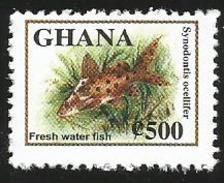 Ghana 2005 Synodontis Ocellifer Fresh Water Fish MNH - Ghana (1957-...)