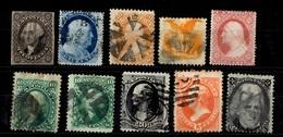 Etats-Unis Belle Petite Collection De 10 Classiques Oblitérés 1851/1880. Bonnes Valeurs. A Saisir!