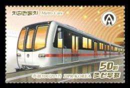 North Korea 2017 Mih. 6354 Metro Cars MNH ** - Korea (Nord-)