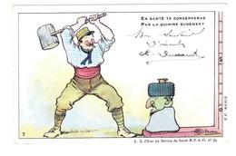 Carte En Franchise Militaire - Anti Paludéenne De L'armée D'orient - N°7 - En Santé Te Conserveras - Marcophilie (Lettres)